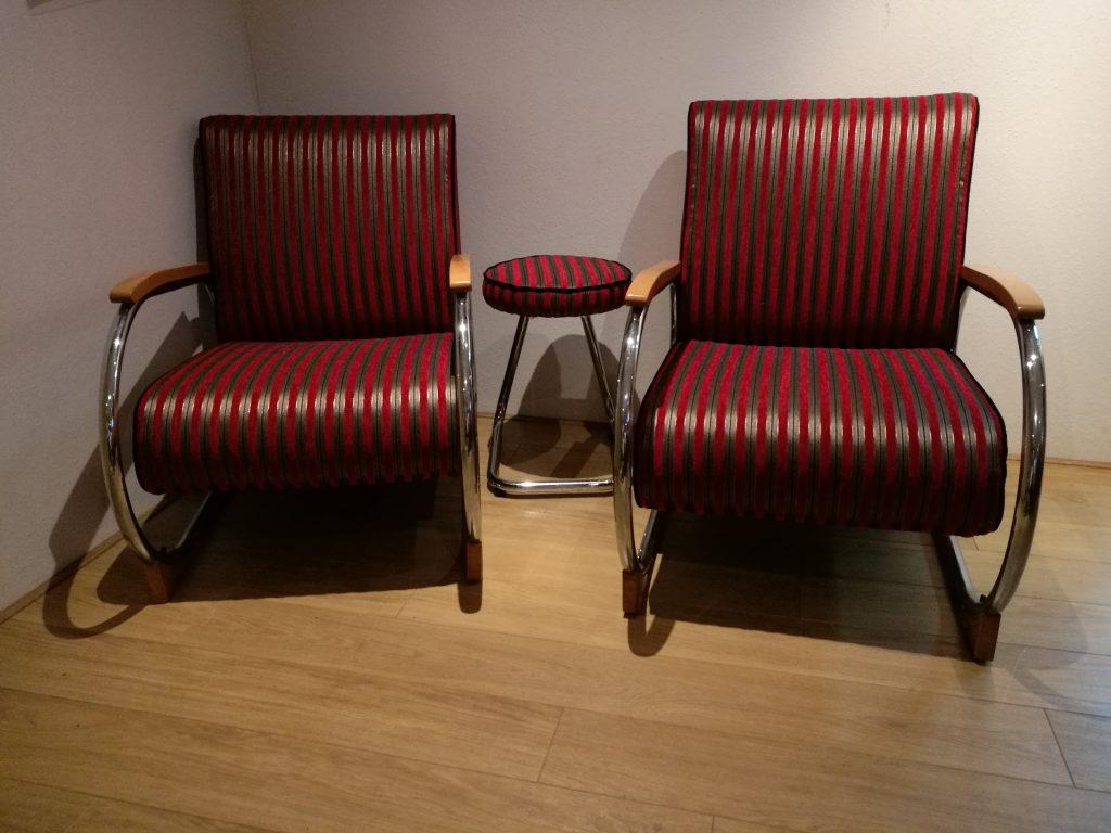 Gispen stoelen en krukje